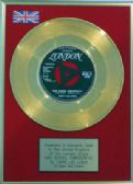 "JERRY LEE LEWIS- 7"" 24 Carat Gold Disc - HIGH SCHOOL CONFIDENTIAL"